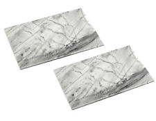 Set of 2 Large Grey Marble Chopping Boards 41x31cm Cutting Slicing Serving Rack