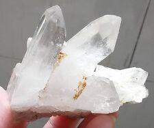 147.6g Clear Natural Beautiful QUARTZ White Crystal Cluster Specimen