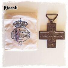 Medaglia al Merito di Guerra croce Repubblica Italiana Bustina Regia Zecca