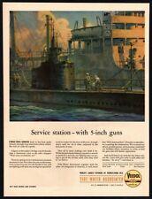 1944 VEEDOL Motor Oil - Navy Tanker - Sailors - WWII - Original Retro VINTAGE AD