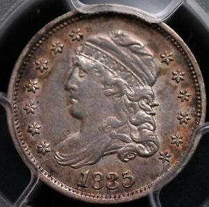 1835 CAPPED BUST HALF DIME PCGS XF45 & CAC LIGHT SILVERY GREY WITH LOTSA LUSTER
