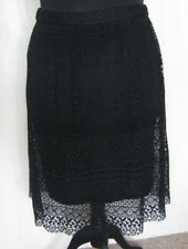 Long Tall Sally Black Aline Skirt Lace Crochet Net UK 12 BNWT Career Work Office