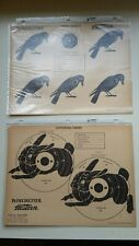 2 Vintage Winchester Western Shooting Target Sheets Nos! Crow & Cottontail