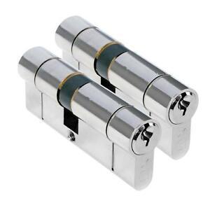 High Security 1 Star Euro Cylinder Keyed Alike Pair UPVC Door Lock Anti Snap