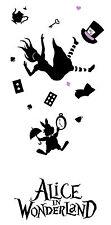 Alice in Wonderland Falling down -Typography quote Decorative Vinyl Wall Sticker