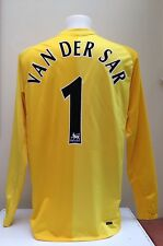 Manchester United Goalkeeper Shirt Jersey VAN DER SAR 1 Large L 2006/07 Yellow