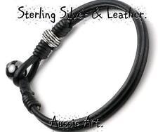 Hematite Sterling Silver Bracelets for Men
