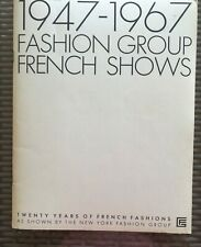 New York 1947-1967 Fashion Group French Shows 20 Years Of French Fashions Book