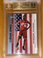 2003-04 LeBron James UPPER DECK PHENOMENAL BEGINNING ROOKIE FLAG #20 BGS 9.5 PSA