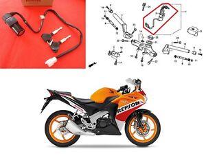 GENUINE Honda CBR 125 R Ignition Lock Barrel & Keys 2011 - 2020 ***UK STOCK***
