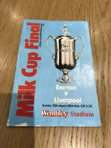 1984 Milk Cup Final Everton v Liverpool Football Programme
