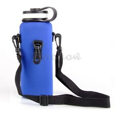 1L Water Bottle Insulated Cover Carrier Case Pouch Bag Holder Strap Sport Hiking