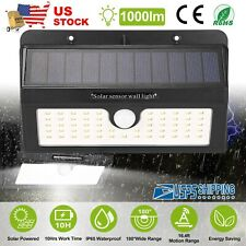 Newest Outdoor 1000LM 55LED PIR Motion Sensor Solar Light Flood Garden Lamp IP65