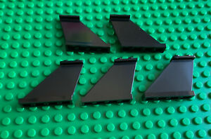 5 x LEGO 4x1x3 Tail / Fin / Support - Black - Part 2340 - New