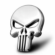 NEU! 3D Emblem Aufkleber Badge Punisher Skull Totenkopf 100% Metall Auto Embleme