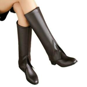 Womens Designed Pull On Pointy Toe Western Low Heel Cowboy Mid Calf Boots 45/46