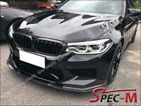 CF Fits 2018+ BMW F90 M5 3D Style Front Bumper Spoiler Lip Carbon Fiber
