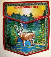 ECHECONNEE LODGE 358 2-PATCH 2018 100TH OA CENTENNIAL 2015 NOAC 2-PATCH 100 MADE
