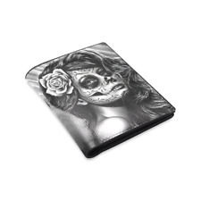 Men's Wallet - Day of the Dead Sugar Skull Lowbrow Tattoo Flash Punk Goth Rock
