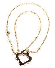 Authentic Van Cleef & Arpels Byzantine Alhambra 18k Yellow Gold Pendant Necklace