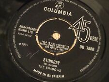 THE SHADOWS STINGRAY UK 1965 COLUMBIA  45' ALL NEAR MINT
