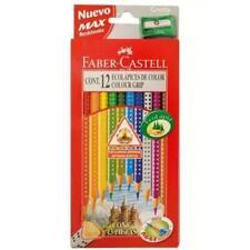 Faber Castell ~ COLOR TRI GRIP ~ Non Slip Dot Grip Triangular Shape EcoPencils