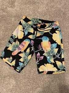 Polo Ralph Lauren Men 32 Swim Trunks Board Shorts Hawaiian Tropical Birds RRL