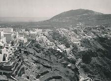 ÎLE DE SANTORIN c. 1950 - Panorama sur Fira Grèce - DIV 9315