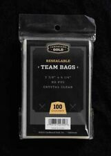 100 ct. Trading Card resealable Team Bags - Basketball Baseball Football Hockey