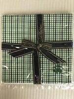 NEW! Brooks Brothers Men's Pocket Square 100% Cotton - Green - Original Pkg