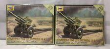 2 X nuevo Zvezda 1/72 figuras-Soviética 122mm Howitzer Z6122