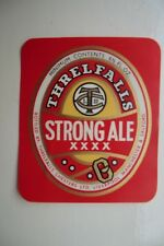 MINT THRELFALL'S LIVERPOOL & SALFORD STRONG ALE BREWERY BEER BOTTLE LABEL