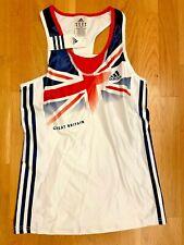 Womens Adidas Official Athletics Team GB World Champs Vest BNWT UK-10