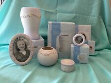 Precious Moments A Mother's Love Grows By Giving Lot Of 5 Porcelain Lilac Coll.
