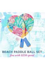 Lilly Pulitzer NIB  Paddle Ball Set Multi Beach Please GWP Free Shipping