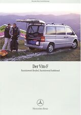 Prospekt 2002 Mercedes Vito F 2 02 brochure Auto Pkw Deutschland brosjyre Europa