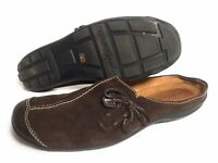 Naturalizer Natural Soul Fanner Women's Brown Suede Slip On Mules Shoes Size 7 M