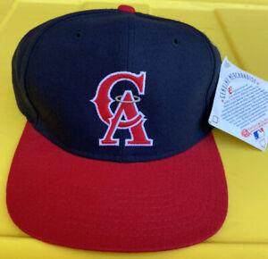 NWT Vintage California Angels New Era Plain Logo SnapBack Hat Cap MLB Wool Blend