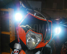 12v Enduro Bike 10w Cree Round LED Spot Working Work Light Aux (PAIR)