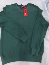 Mens IZOD Small Teal Green V-Neck Sweater NEW MSRP $55.00 ~ 100% Cotton