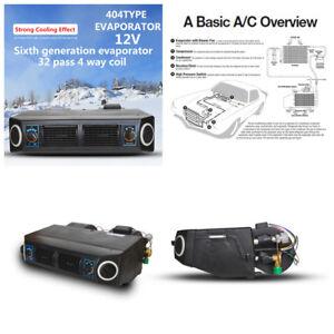 Car 12V 30W A/C KIT 32 Pass Coil Underdash Evaporator Compressor Air Conditioner