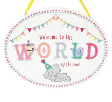 Welcome to the WORLD little one! Me to You Plaque. New Baby or Baby Shower Gift.
