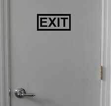 EXIT Sign Vinyl Decal Sticker - Door Window Wall - Inside or Outside