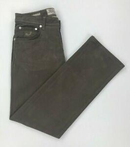 Men's Dark Taupe Jacob Cohen Jeans W32 L31 620 Comfort Straight Leg Stretch A*