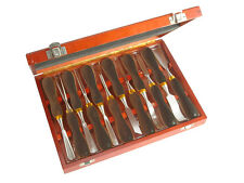Faithfull Woodcarving Chisel & Gouge Tool Set 12-Piece in Wooden Case