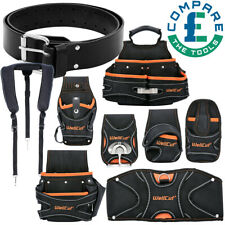 Genuine Black Leather Heavyweight Tool Belt With Different Pouches-Choose From