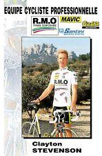 CYCLISME carte cycliste CLAYTON STEVENSON équipe R.M.O