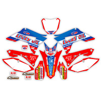 2017 - 2018 HONDA CRF 450 R GRAPHICS KIT CRF450R LUCAS OIL WITH BACKGROUNDS