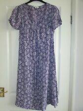 ladies pretty purple/white patterned dress from Debenhams size 14