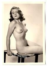 #889 ROESSLER AKTFOTO / NUDE WOMAN STUDY * Vintage 1950s Studio Photo - no PC !